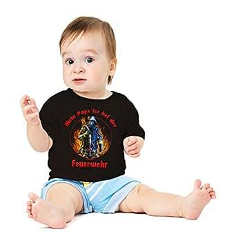 16 x Funshirt Spaßshirt T-Shirt Baby Papa ist bei Feuerwehr - Größe: 56-62