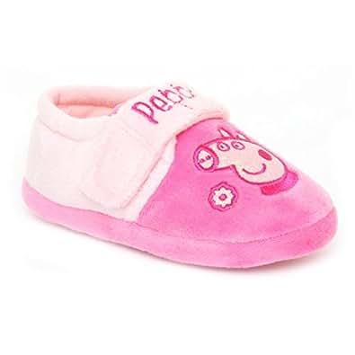 Pre-School Girls Peppa Pig Peppa Glitter Pink Slippers Size 10