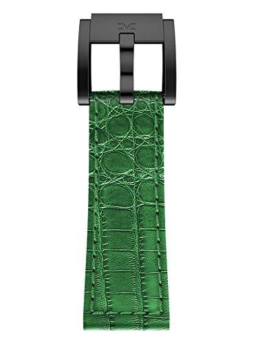 TW Steel Marc Coblen Armband Uhrenband Leder 22 MM Kroko dunkelgrün LB_DG_K_B