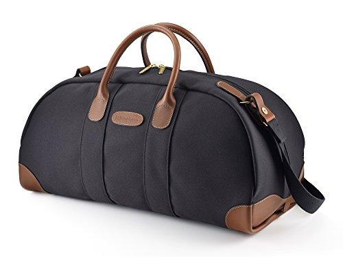 Billingham , Borsone , Khaki FibreNyte / Chocolate Leather (beige) - 588434-54 Black FibreNyte / Tan Leather