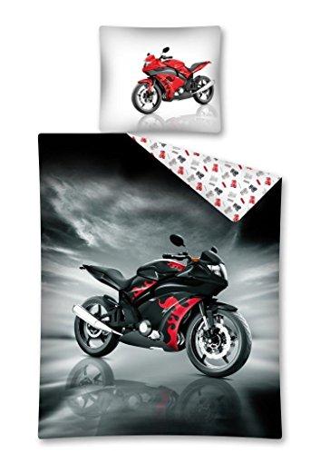 Moto biancheria da letto Copripiumino 160x 200+ 2federe 70x 80idea decorativo 100% cotone, letto 1persona