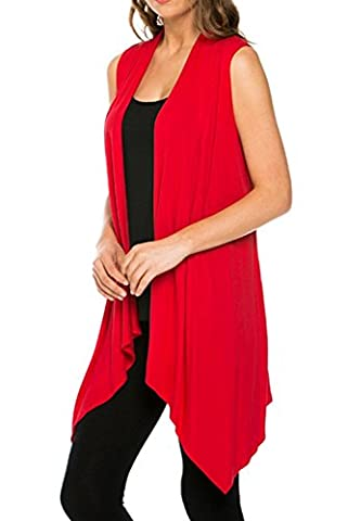 Summer Women Slim Lightweight Vest Waistcoat Sleeveless Outwear Open Cardigan