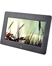 GLE 9 inch Big Frame Slide Show Repeat Pictures Moving Images Digital Photo Frame HD with Video Movie MP3 MP4 Player Electronic USB SD Card Option -1 pcs 7 Digital Photo Frame(128 MB, Black)