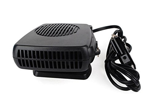 Preisvergleich Produktbild Auto Heizlüfter 12V 2in1 Portable Ventilator Keramik Lüfter Heizung Kühlung Defroster Demister (Schwarz01)