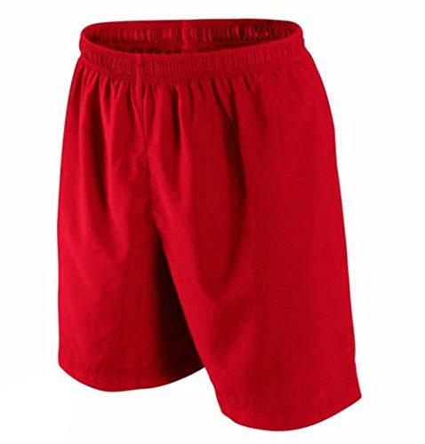 Pantaloncini sportivi traspiranti per lo sport, da uomo, taglie S M L XL Red Large