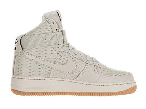 Nike Wmns Air Force 1 Hi Prm, Chaussures de Sport Femme Blanc Cassé - Blanco (Light Bone / Light Bone-Black)