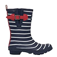 Brakeburn Womens Stripe Mid Welly- Blue Size 5