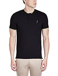 United Colors of Benetton Mens Polo (8903975019522_15A3069J2880I100S_Small_Black)