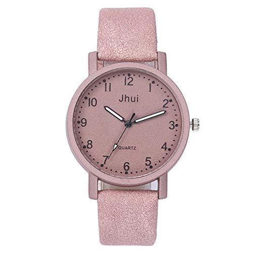 Baumwoll-friseur-jacke (Floweworld Damen Casual Scrub Quarz Uhren Lederband New Strap Watch Fashion Einfache Analog Armbanduhren)