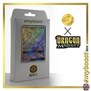 White Kyurem-GX (Kyurem Blanco-GX) 74/70 Arcoíris Secreta - #myboost X Sun & Moon 7.5 Dragon Majesty - Box de 10 cartas Pokémon Inglesas