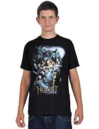 Le Hobbit - T-Shirt Gandalf Bilbon Thorin Nains - Noir