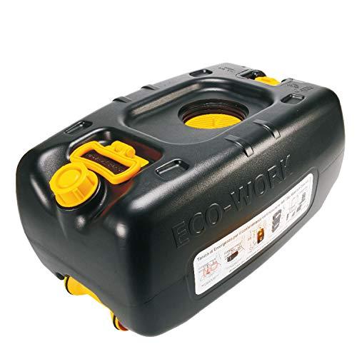 Eco-Work® 36LT - tanica di Emergenza da 36 Litri per Il Recupero & contenimento dell'Olio Minerale esausto Prodotto da officine e mezzi Pesanti con Trolley, impilabile, plastica, Nero