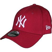 New Era League Essential 940 New York Yankees Cardinal Beyzbol Şapkası, Kırmızı, Tek Ebat