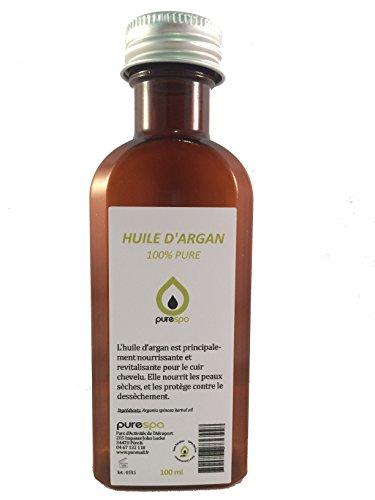Huile végétale d'ARGAN, 100% PURE - 100ml, soin du cheveu, du visage et de la peau