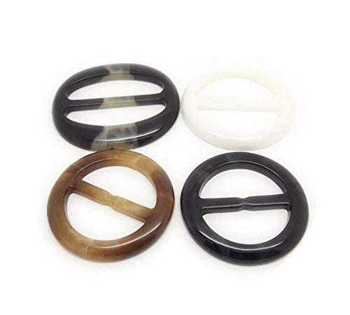 6 round plastic pins buckle type for scarf, scarves, etc.