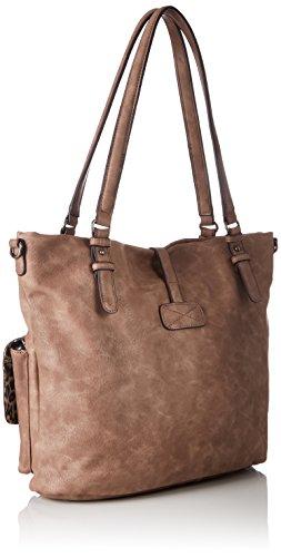 Tamaris - Bernadette Shopping Bag, Borse a secchiello Donna Rosa (Mauve)