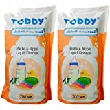 #6: Toddy Baby Bottle And Nipple Liquid Cleanser for Fruits, Bottles,sippers, Accessories & Toys (2 Pack 1400ml)