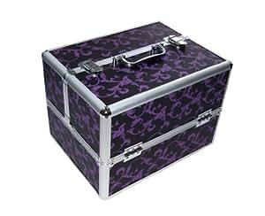 malette de rangement pour nail art fleurs imprim es beaut et parfum. Black Bedroom Furniture Sets. Home Design Ideas