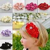 Niños Niña de pelo diadema de flores lazo para bebé gorro de invierno sombrero pelo banda