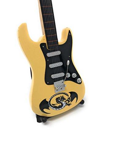 Miniatur Gitarre Deko Gitarre Guitar Fender 24 cm creme Drache #143