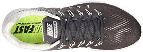 Nike Herren Air Zoom Pegasus 33 Laufschuhe Grau (Dunkelgrau/Schwarz-Weiß)