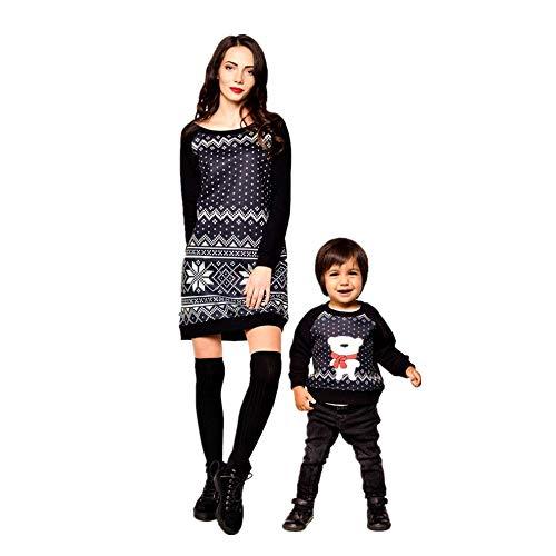 Mini Solid Hemd Dres, Weihnachtsfest, Eltern-Kind-Outfits, Frauen Familie Passenden Pyjamas Kleid Nachtwäsche Nachtwäsche, Sexy Bodycon Kleider