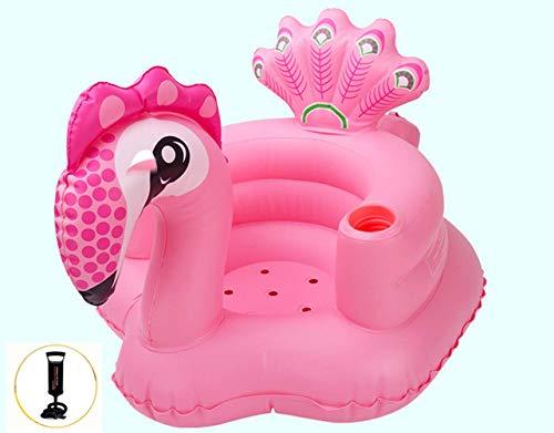 Thole Aufblasbares Sofa Kind Verdicken Tragbar Schwimmsessel Baby Planschbecken Kinderboot,Pink