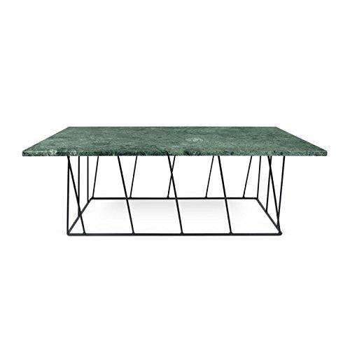 Paris Prix - Temahome - Table Basse Helix 120cm Marbre Vert & Métal Noir