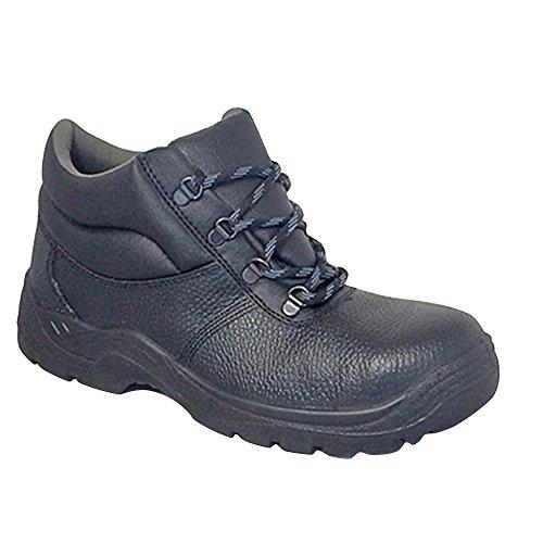 Uomo Grafters Sicurezza Boots Desert Nero t6qxqaf1