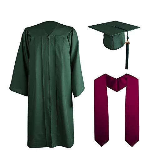 ZQ Abschlusskappe Cap Quaste Set 2019 für High School und Bachelor, Kostüme Chorgewänder, College Bachelor,Purple,L