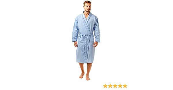 Mens Haigman Easy Care Cotton Long sleeve Robe Dressing Gown Sizes M-XL UK