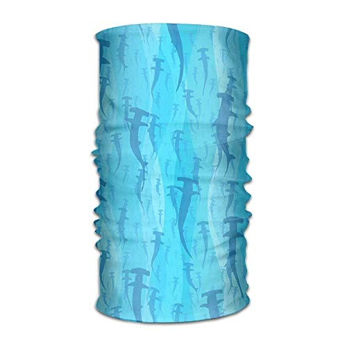 adband Blue Shark Head Scarf Wrap Sweatband Sport Headscarves for Men Women ()