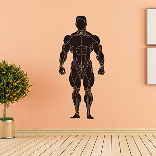 Dalxsh Bodybuilding Sexy Muscle Männer Wandtattoos Klassische SportWandkunstPic Home Decor Wohnzimmer Wandbild20X45 Cm