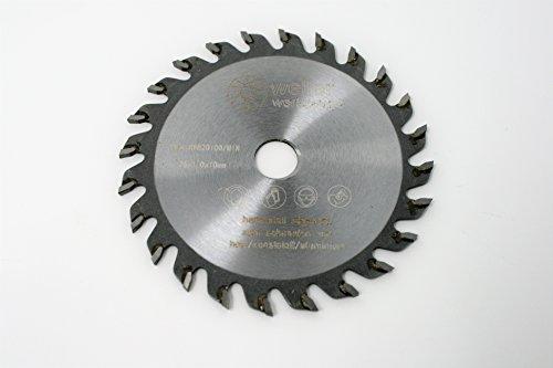 Sägeblatt für Holz Kunststoff Aluminium Kupfer 76x10mm für Akku Winkelschleifer Hartmetall Trennscheibe