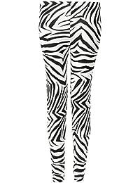 Fast Fashion - Leggings De Viscose Plus La Taille Des Animaux Léopard Crâne De Colorant Zèbre Cravate Impression - Femmes