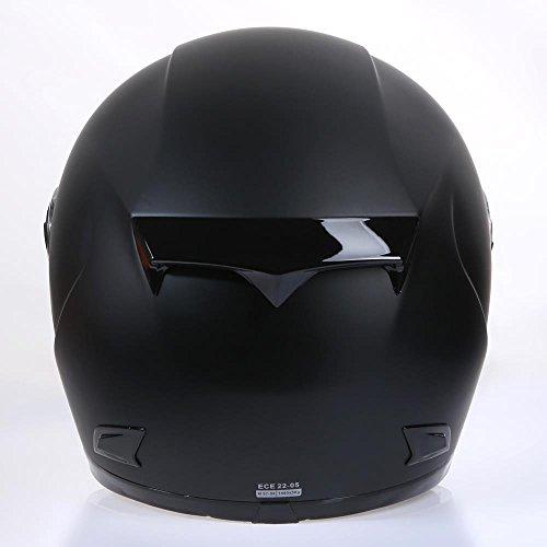 Motorradhelm Integralhelm CMX Blacky L schwarz matt mit Visier klar und getöntem Zusatzvisier - 3