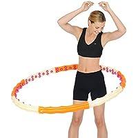 Health Hoop Jemimah II, Massage Hoop, naranja/crema, 107 cm//96 perillas de masaje, 1,7 kg