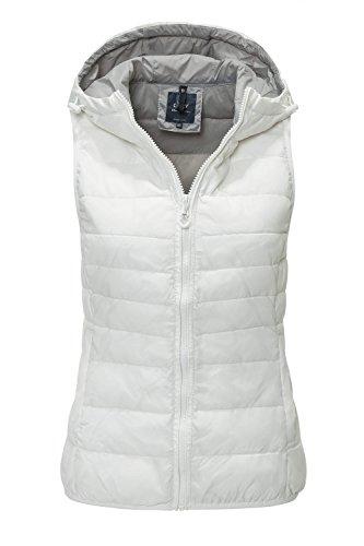 Only Onltahoe Spring Hood Waistcoat Cc Otw, Veste de Sport sans Manches Femme Blanc