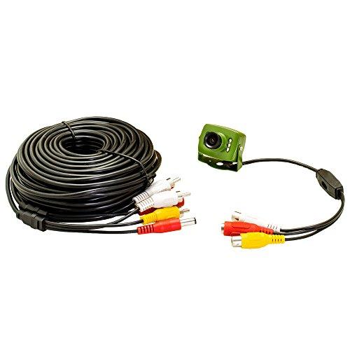 700TVL verdrahtete Kamera für Nistkästen, mit Audio, Nachtsichtfunktion und 20 m 30 m 50 m AV-Kabel, RCA, 940 nm Infrarot-, Garten-, Wildlife-Kamera