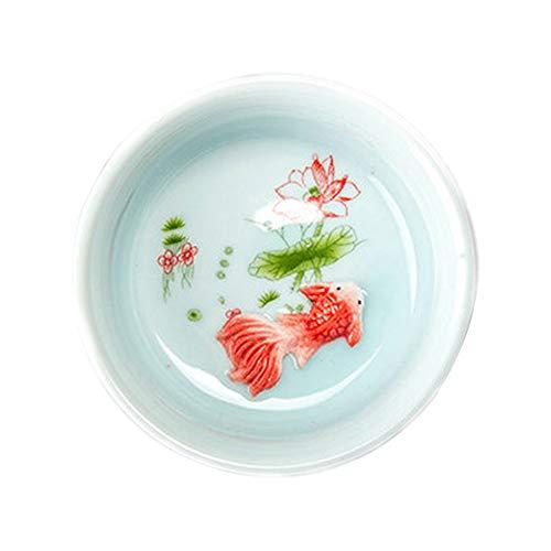 lujiaoshout Chinois Tasse de thé en Porcelaine céladon Poisson Tasse de thé Set Teapot Verres Thé en céramique Parfaits Cadeau Chinois en céramique - Vert