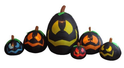 ng Illuminated Halloween Inflatable Black Pumpkins in Various Sizes Decoration by BZB Goods (Inflatables Für Halloween)