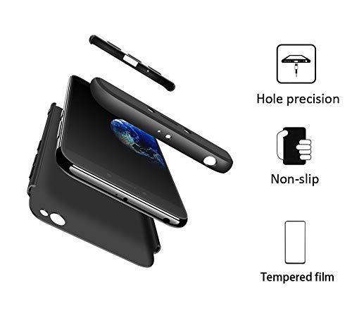 Aceniy Funda Xiaomi Redmi GO, Carcasa Móvil de Protección de 360° 3 en 1 Desmontable con HD Protector de Pantalla Carcasa Caso Case Cover para Xiaomi Redmi GO - Negro