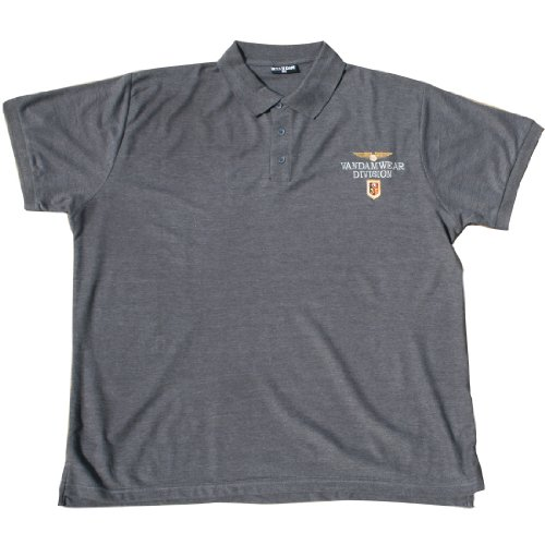 VANDAM 6622 Dunkel melange Poloshirt Große Größen 3XL-10XL Dunkel Melange