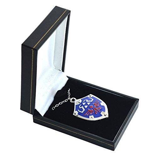 Legend Of Zelda smaltato colletto-collana Hyrule Triforce Ciondolo in confezione regalo