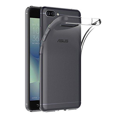 Asus Zenfone 4 Max ZC554KL Hülle, AICEK Transparent Silikon Schutzhülle für Zenfone 4 Max ZC554KL Case Clear Durchsichtige TPU Bumper Asus ZC554KL Handyhülle (5,5 Zoll)