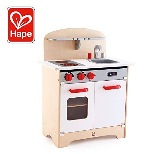 Hape e3152 - Spiel Synthetische Holz - Küche - Herd Gourmet, weiß - Spielzeug-lebensmittel Hape