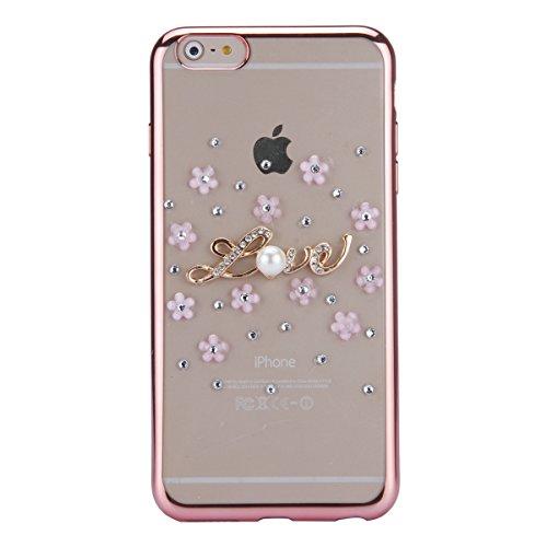 iPhone 6 Hülle,iPhone 6s Case,iPhone 6 Bling Case - Felfy Ultradünne Transparent Gel TPU Silikon Diamond Skin Bling Glitte Kristall Schutzfolie Glitzer Silber Silikon Crystal Case Durchsichtig Schutzh C10