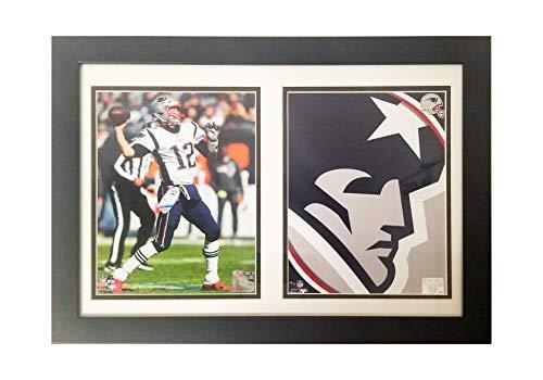 Tom Brady Doppelrahmen, 30,5 x 45,7 cm, Doppelspieler und Logo, Quarterback Deluxe ()