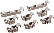 Bosch-Plástico Clips Set para parte inferior de vajilla cesta para Bosch Lavavajillas
