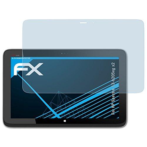 atFolix Schutzfolie kompatibel mit HP Spectre 13-h205eg x2 Folie, ultraklare FX Bildschirmschutzfolie (2X)